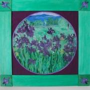 Irises with Ladybug