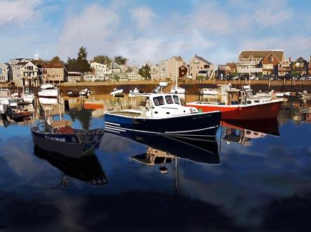 Impressionist Harbor ~ Philip Brent Harris