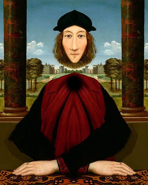 World Famous Floating Head Illusion ~ 18 x 24 Renaissance Reimagined $800
